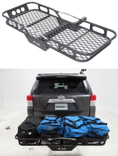"Trailer Hitch Luggage Rack Rola Swinging Enclosed Cargo Carrier For 2"" Trailer Hitch"