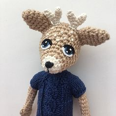 This deer is my first Yarn and colors project and I love it 💘 Deer, Teddy Bear, My Love, Toys, Crochet, Colors, Projects, Animals, My Boo