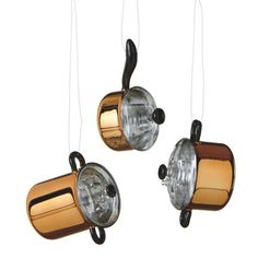 Copper Pot Ornaments from TheHolidayBarn.com