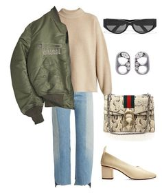 """Untitled #795"" by lucyshenton ❤ liked on Polyvore featuring Vetements, The Row, Alpha Industries, Gucci, Chanel, Balenciaga and Marc Jacobs"
