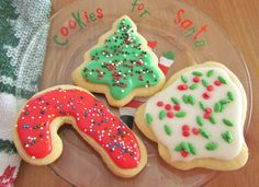 We make these cut out sugar cookies every year. They hold their shape after baking and they also taste amazing! It's not Christmas without them!