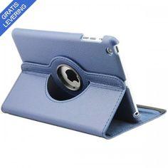 iPad cover med 360 graders roterende case - Mørkeblå