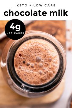 *NEW* This keto milk chocolate recipe is here to make you feel like a kid again in just 5 minutes and a couple of sips. Enjoy it on it's own, or add it to iced coffee, smoothies or cocktails! #ketochocolatemilk #lowcarbchocolatemilk #chocolatemilk #keto #lowcarb Keto Chocolate Recipe, Low Carb Chocolate, Sugar Free Desserts, Low Carb Desserts, Low Carb Smoothies, Smoothie Recipes, Keto Candy, Low Carb Ice Cream, Low Carb Breakfast