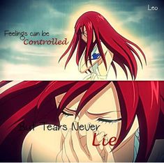 Erza Scarlet || Don't cry...