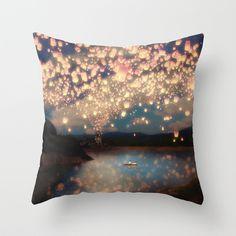 Lanterns pillow.