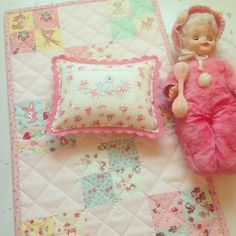 vintage grey: a sweet doll quilt