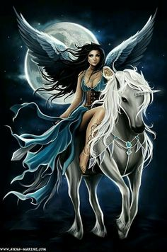 Find images and videos about angel, fantasy and unicorn on We Heart It - the app to get lost in what you love. Unicorn And Fairies, Unicorn Art, White Unicorn, Angels And Fairies, Fantasy Fairies, Unicorn Fantasy, Magical Creatures, Fantasy Creatures, Elfen Fantasy