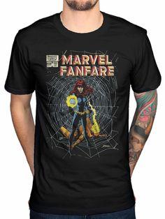 Official Marvel Comics Marvel Fanfare T-Shirt Black Widow Captain America  Hulk Mens Print T 7ea27d5dea2