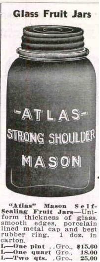 Atlas Strong Shoulder Mason Jar [Hazel-Atlas] | Old Glass Bottles and Items of Antiquity