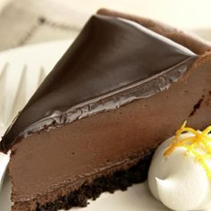 Deliciously Dark Chocolate Cheesecake--calls for fat free cream chees--would use the regular full fat for sure :D