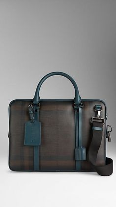 Teal blue Smoked Check Crossbody Briefcase – Image 1 Source by Leather Laptop Bag, Leather Briefcase, Leather Bag, Purses And Handbags, Leather Handbags, Designer Bags For Less, Work Bags, Work Purse, Burberry