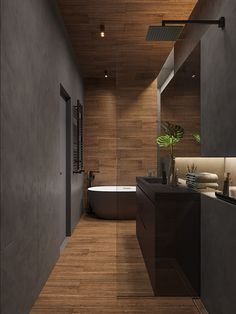 Dark Bathrooms, Dream Bathrooms, Amazing Bathrooms, Small Bathroom, Bathroom Design Luxury, Modern Bathroom Design, Home Room Design, House Design, Loft Interiors