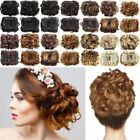 Curly Messy Bun Combs Chignon Scrunchie Updo Cover Hair Extensions as human Synthetic Curly Hair, Synthetic Hair Extensions, Clip In Hair Extensions, Chignon Updo Wedding, Ponytail Bun, Clip In Hair Pieces, Curly Bun Hairstyles, Jumbo Braiding Hair, Messy Curly Bun