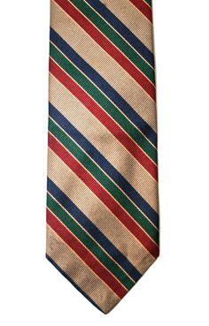 Vintage Menswear Silk Striped Preppy Necktie