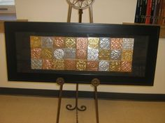 mural made from two-tone foil squares. Classroom Auction Projects, Art Auction Projects, Class Art Projects, Collaborative Art Projects, Art Classroom, Auction Ideas, Group Projects, Welding Projects, School Projects