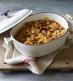 Bigos stew: the national dish of Poland. It can be made with any kind of meat from pork to rabbit or venison, but should always have spicy Polish sausage. It tastes better left overnight and reheated the next day making it a great dish to prepare in advance for an evening with friends.