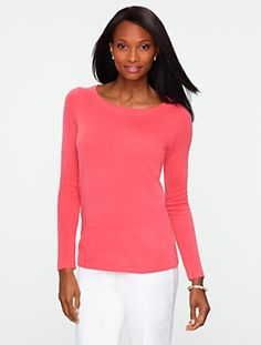 Talbots - Cashmere Round-Neck Sweater | Cashmere | Misses