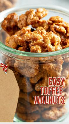 Nut Recipes, Candy Recipes, Holiday Recipes, Snack Recipes, Cooking Recipes, Snacks, Candied Walnuts, Pecans, Lunches