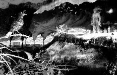 "Illustration by Jim Kay for ""A Monster Calls"" by Patrick Ness. This book is incredible, the illustrations are so beautiful I almost cry."