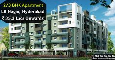 """Buy #2bhk and #3bhk flats for sale in #LBnagar, #Hyderabad. Size Range: 1179 - 1615 Sq.ft Prize Range: 35.3Lacs To 48.45Lacs For more details click on http://www.homesulike.com/index.php/projects/viewdetails/Maram-GL-Heavens Call us 040-66666616 for site visit. """"""""Hit like and share if you are interested in this property."""""""""""""""