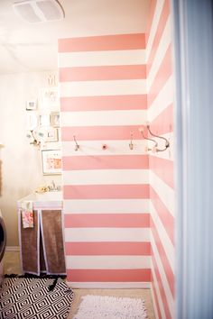 How cute could a laundry room seriously be?? I fully plan on making my future laundry room as girly as possible since I spend a LOT of time doing laundry ☺