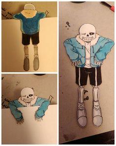 Sans the skeleton bookmark - UNDERTALE by littletalksalot.deviantart.com on…