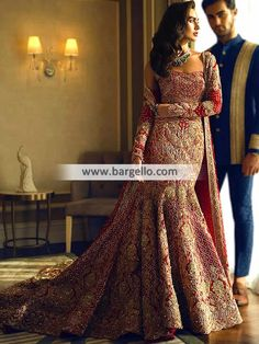 - Mermaid Lehenga - Luxurious Bridal Lehenga - For order & Inquiry: New York U.A: 0585 638 3223 London U.K: Perth Australia: Bridal Rapids Illinois US… and Indian Bridal Outfits, Indian Bridal Lehenga, Indian Bridal Fashion, Pakistani Wedding Dresses, Pakistan Bridal, Desi Wedding Dresses, Wedding Poses, Designer Bridal Lehenga, Asian Bridal