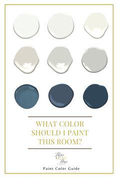 Blue Paint Colors, Paint Color Schemes, Blue Colour Palette, Room Paint Colors, Interior Paint Colors, Paint Colors For Home, Wall Colors, House Colors, Color Palettes