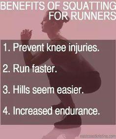Squatting before running
