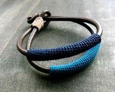Inspiration only, not a pattern: zsazsazsu: Leather, crochet and a knot