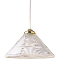 Westinghouse 6624400 One-Light Interior Pendant with Crystal Ribbed Glass, Polished Brass Finish - Ceiling Pendant Fixtures - Amazon.com