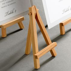 easels.  at ikea. Should pick these up for simple signs