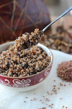 Buckwheat Kasha With Mushrooms - Гречневая Каша с Грибами - Olga's Flavor Factory