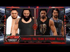 Roman Reigns & Seth Rollins vs.Samoa Joe & Braun Strowman -Tag Team Extr...