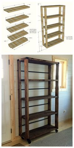Ana White | Build a Reclaimed Wood Rolling Shelf | Free and Easy DIY Project and Furniture Plans
