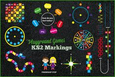 patio de papas Playground Games Key Stage 2 Markings by PlaygroundMarkings on DeviantArt Preschool Playground, Playground Games, Playground Flooring, Playground Design, Outdoor Playground, School Hallways, School Murals, Babysitting Activities, Activities For Kids