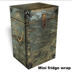 Wooden Box Mini fridge wrap ONLY at Rm wraps Every order is custom size to fit the product that your going to wrap. How to install a Mini fridge wrap video Mi