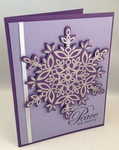 Holiday catalog sneak peak - love the snowflake and with the coordinating Framelits, it's so easy to cut out!
