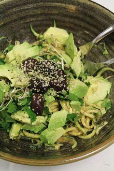 This Rawsome Vegan Life: zuke pasta with tahini sauce & other goodness