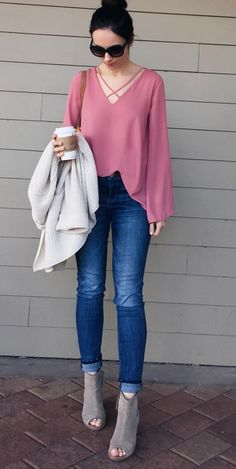 Lush cross front blouse