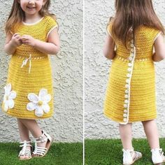 Fable Elegant Wool Kid's Girl's Frocks Fabric: Wool Size: Age Group Months - 3 Months) - 10 in Age Group Months. Crochet Toddler Dress, Crochet Daisy, Crochet Girls, Crochet Baby Clothes, Girl Frock Dress, Baby Dress, The Dress, Girls Fancy Dresses, Frocks For Girls