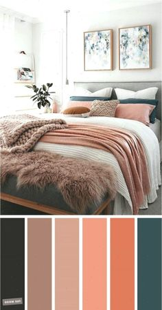 and Teal Colour Scheme For Bedroom -Mauve, Peach and Teal Colour Scheme For Bedroom - teal home accents Mauve, Peach and Teal Colour Scheme For Bedroom elegant taste master bedroom color scheme 26 Teal Color Schemes, Bedroom Color Schemes, Bedroom Colors, Apartment Color Schemes, Mauve Bedroom, Peach Bedroom, Teal Bedroom Accents, Teal And Copper Bedroom, Teal Master Bedroom