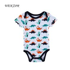 Fashion baby boys clothes cotton baby costume casual body clothes for newborns one-piece overalls printed baby rompers for kids