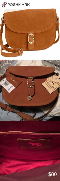 """Emma Fox Dales Suede Flap Crossbody 100% pure leather. Never used, super classy and great for this summer. It has no snags/stains/scratches/etc.  It is a crossbody but has an adjustable strap. I seriously wouldn't be selling, but I'm so hard on purses, this wouldn't last. 21"""" drop strap, 9-1/2"""" W x 8"""" H x 2-1/2"""" D, can go lower on Merc (48freeship). Cheaper than what you can find anywhere else online Anthropologie Bags Crossbody Bags"""