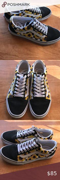 Sunflower Sneakers Custom Vans Custom Shoes Vans Custom