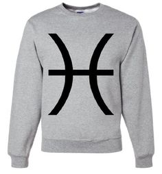 For the Pisces in your life.  Tons of colors to choose from.  Get yours here: http://www.californiarepublicclothes.com/collections/zodiac-horoscope/products/pisces-astrology-symbol-crewneck-sweatshirt