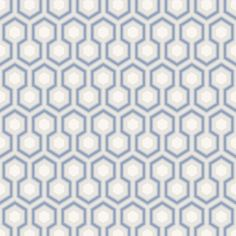 Love this for the kids upstairs bathroom!  Cole & Son 66/8054 New Contemporary  New Contemporary HICKS HEXAGON This sophisticated small-scale geometric hexagon wallpaper, has become a design classic.