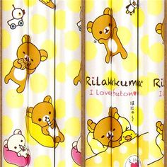 spotted Rilakkuma with friends pencil by San-X