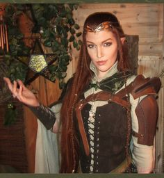 Great DIY Wood Elf Costume - costume design by Marita Tathariel Svensson www.tatharielcreations.deviantart.com