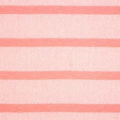 """Light Coral Tonal Stripe Hacci Knit Fabric - Love this fabric!  A designer overstock Hacci open weave knit in a light coral pink and heather coral pink wide tonal stripe.  Fabric is light weight with a fluid drape and great stretch and recovery.  Heather coral stripes measure 2 1/4"""" and smaller solid yellow stripe measures 3/4.  Fabric has a 4 way stretch.  Great for tops, dresses, swim cover ups, light weight cardigans, kimono's, and more!  ::  $6.50"""